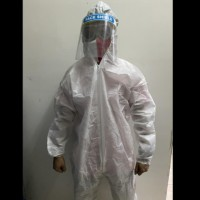 baju apd hazmat suit bahan laminating waterproof non woven 75gsm