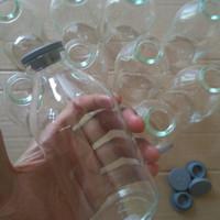 botol kaca 250ml atau botol asi dengan tutup