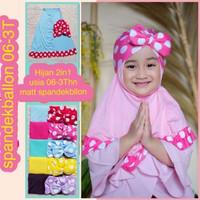 hijab bayi 2in1 plus ciput / jilbab bayi / kerudung anak