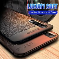 Casing Vivo Y17 Y 17 Soft Case Leather Design Back Cover SoftCase