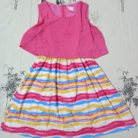 Dress Anak Pink Size 10 Preloved / Bekas