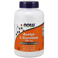 now food foods acetyl l carnitine lcarnitine 500mg 500 mg 200 caps