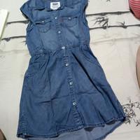 Dress anak cewe Levis Original Preloved / Bekas 6-7 tahun