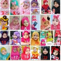 jilbab anak bayi elmo kids