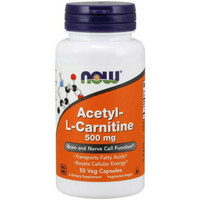 now food foods acetyl l carnitine lcarnitine 500mg 500 mg 50 caps