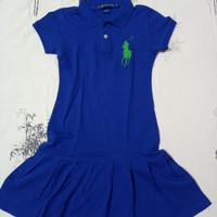 Dress Polo Ralph Laurent anak cewe slim fit Size 10 Preloved / Bekas