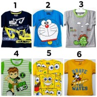 Kaos Anak cowok / kaos Anak laki-laki Motif kartun PROMO!!! Size 1