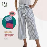 Celana Kulot Anak Perempuan Usia 7-16 Tahun / Rayon Stripe Kulot Anak