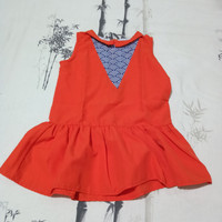 Dress Anak Orange Little Ginger Size L Preloved / Bekas