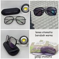 kacamata steampunk big size paket lensa normal/minus photocromic