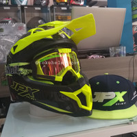 JPX fullface cross FOX1 Carbon dan google cross