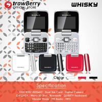 Handphone Flip Qwerty Strawberry Whisky Elegan (Garansi Resmi 1 Tahun)
