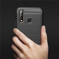 Casing Vivo Y17 Y 17 Soft Case Carbon Accent Texture Back Cover Bumper
