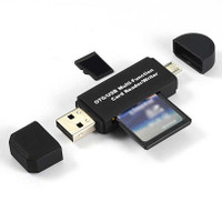 Centechia 2in1 OTG Card Reader SD/TF Card Micro USB 2.0-USB30HS