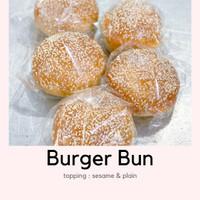 Roti burger bun WIJEN 80gr tanpa pengawet fresh bake setiap hari