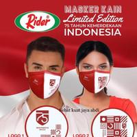 Masker kain RIDER anti bakteria 2 flay limited edition
