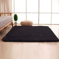 Karpet Bulu (Bahan Rasfur) Ukuran 150×100×2cm (BLACK)