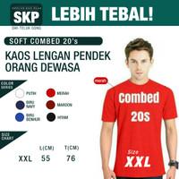 Kaos Polos Lengan Pendek Combed 20s Size XXL