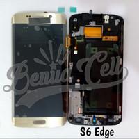 LCD 1SET SAMSUNG S6 EDGE SAMSUNG G952 ORIGINAL GOLD BISA KONTRAS