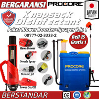 Alat Semprot Disinfektan 2 in 1 Otomatis+Booster Sprayer Elektrik 16 L