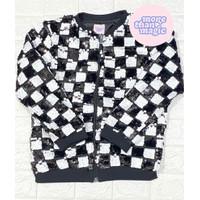 Jaket Anak Perempuan black n white branded more than magic sisa ekspor