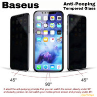 Baseus Anti-Peeping Anti-Spy Tempered Glass iPhone X Xs iPhone 11 Pro