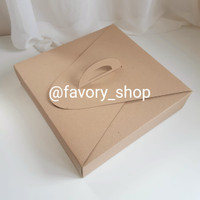 Cake Box 28,5 x 28,5 Brown / Packaging Kue / Gift Box / Snack Box