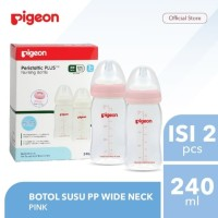 PIGEON Twin Pack Bottle Wide Neck 240ml Peristaltic Plus