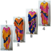 Daster/Longdress Kelelawar Jumbo Batik Cap Warna Soft Motif Abstrak