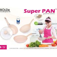 SUPER PAN BOLDE 3SET (GRANITE SERIES)(FRY PAN/SAUCE PAN/WOK)