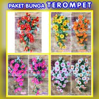 Paket Bunga Plastik/ Daun Rambat Plastik / Rumput Plastik / Terompet