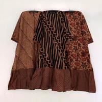 Gamis Batik Jumbo Ruffle Semi Formal Wiru