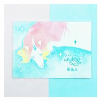 buku gambar sketch book unicorn