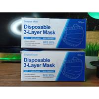 MASKER MEDIS 3 PLY MASKER 1 Pak (isi 50pcs)