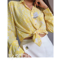 Yellow Floral Blouse - Size 36