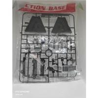 Action Stand Base 2 Gundam SD HG RG Mirip AB2 1 / 144 Black Hitam