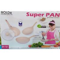 SUPER PAN BOLDE 3SET (GRANITE SERIES) (FRY PAN/SAUCE PAN/WOK)