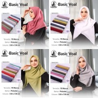 Hijab Jilbab Kerudung Segiempat Basic Voal By Umama uk 110x110