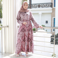 Fashion Baju Gamis Dress Tunik Blouse Muslim Wanita Wela Maxi