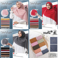 Hijab Jilbab Kerudung Segiempat Voal Wafflee (Lc) By Umama uk 110*110