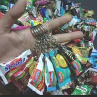 ganci gantungan kunci konci miniatur snack lucu unik