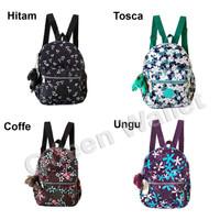 KP7023M Tas Ransel Wanita Import Backpack Kipling Motif