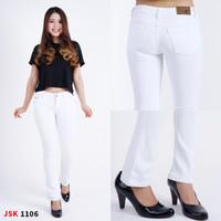 Celana Panjang Wanita Cutbray Jeans - Putih, 28