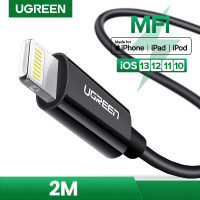 Ugreen Iphone/ Ipad MFI Certified Lightning Cable 2m- BLACK 80823
