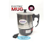 TEKO MUG LISTRIK/Electric Mug 1,5 ltr 15cm Stainlesteel