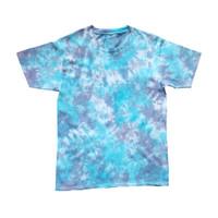 Tie Dye T-Shirt Marble Purple Blue