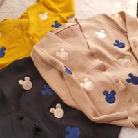 longsleeve cardigan knit mickey