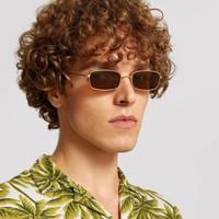 2018 rectangle sunglasses red vintage yellow kacamata kotak merah