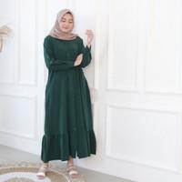 Fashion Baju Gamis Dress Tunik Blouse Muslim Wanita Desta Maxi