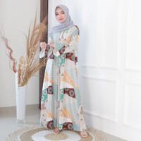 Fashion Baju Gamis Dress Tunik Blouse Muslim Wanita Rozen Maxi